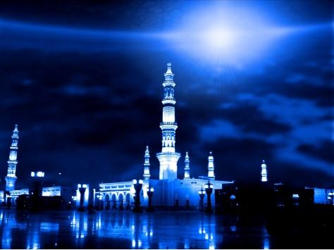 Masjid-Nabawi waktu malam
